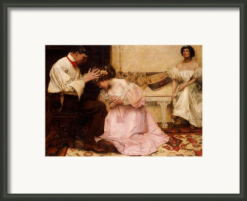 The Two Crowns Framed Print By Charles Sims
