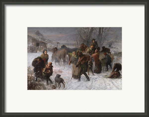 The Underground Railroad Framed Print By Charles T Webber