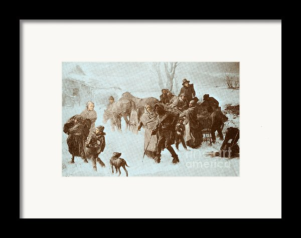 The Underground Railroad Framed Print By Photo Researchers