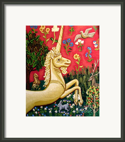 The Unicorn Framed Print By Genevieve Esson