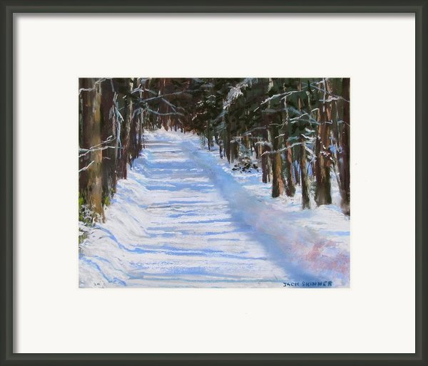 The Valley Road Framed Print By Jack Skinner