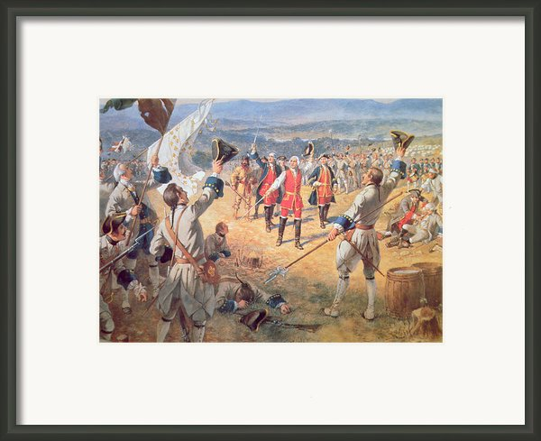 The Victory Of Montcalms Troops At Carillon Framed Print By Henry Alexander Ogden