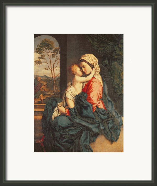 The Virgin And Child Embracing Framed Print By Giovanni Battista Salvi