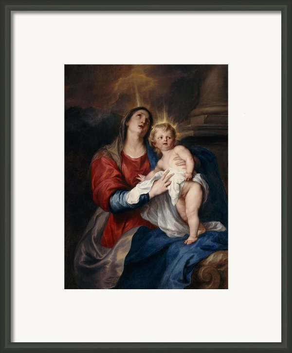 The Virgin And Child Framed Print By Sir Anthony Van Dyck