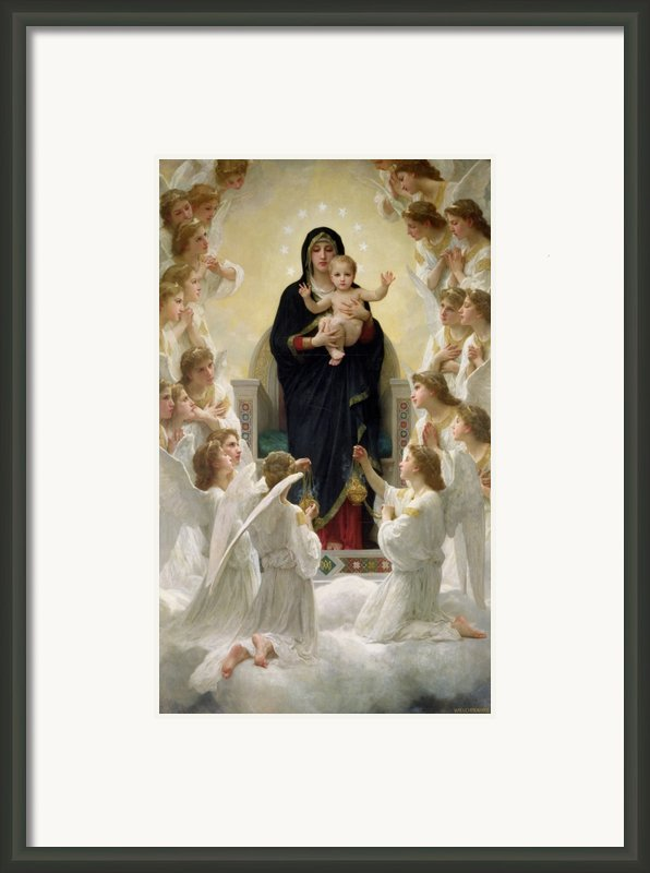 The Virgin With Angels Framed Print By William-adolphe Bouguereau