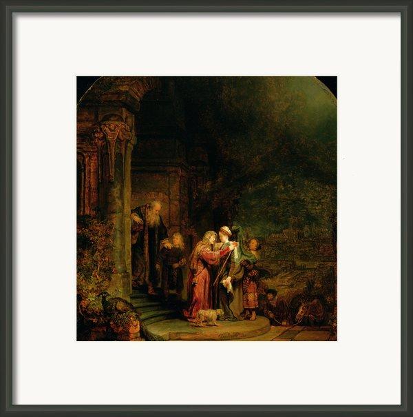 The Visitation Framed Print By  Rembrandt Harmensz Van Rijn