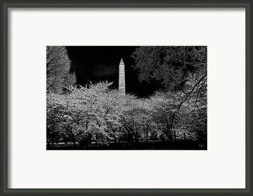 The Washington Monument At Night Framed Print By Lois Bryan