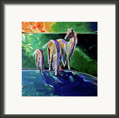 The Watering Hole Framed Print By Lance Headlee