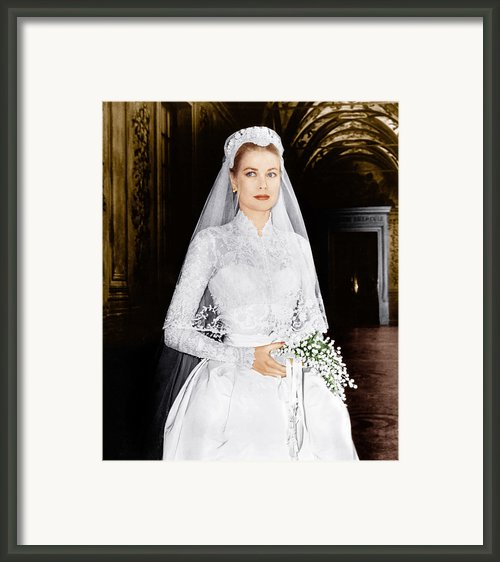 The Wedding In Monaco, Grace Kelly, 1956 Framed Print By Everett