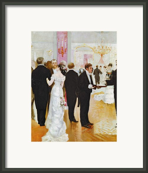 The Wedding Reception Framed Print By Jean Beraud