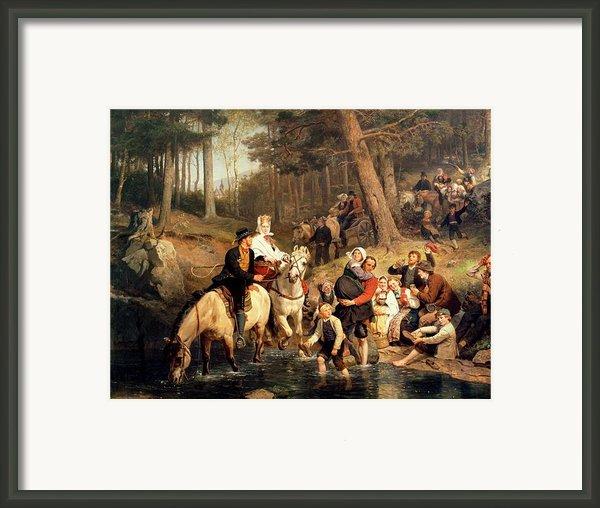 The Wedding Trek Framed Print By Adolphe Tidemand