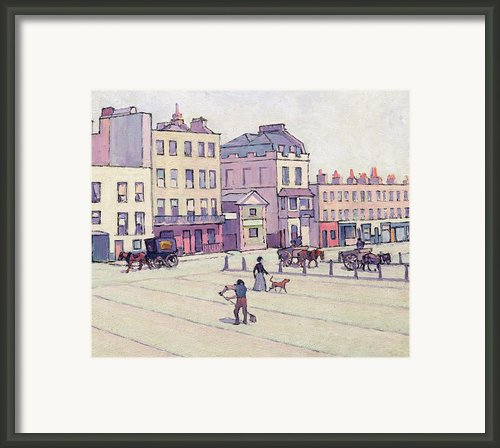 The Weigh House - Cumberland Market Framed Print By Robert Polhill Bevan