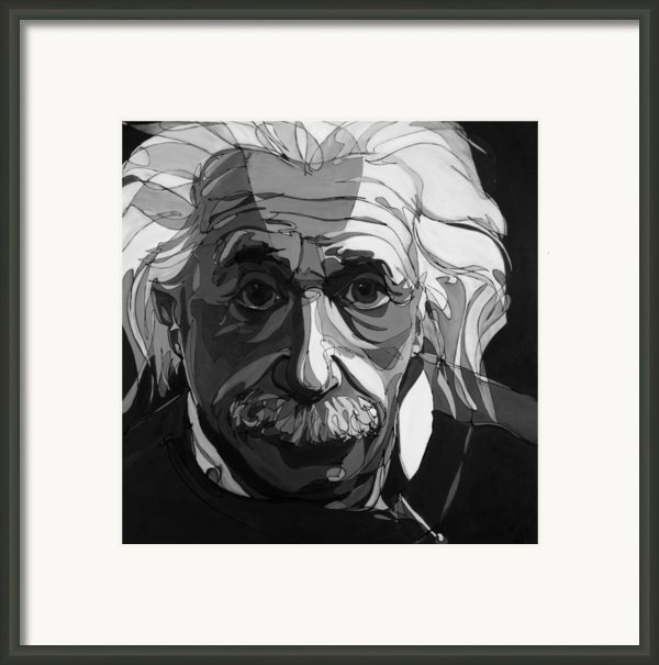 The Weight Of Genius Framed Print By John Gibbs