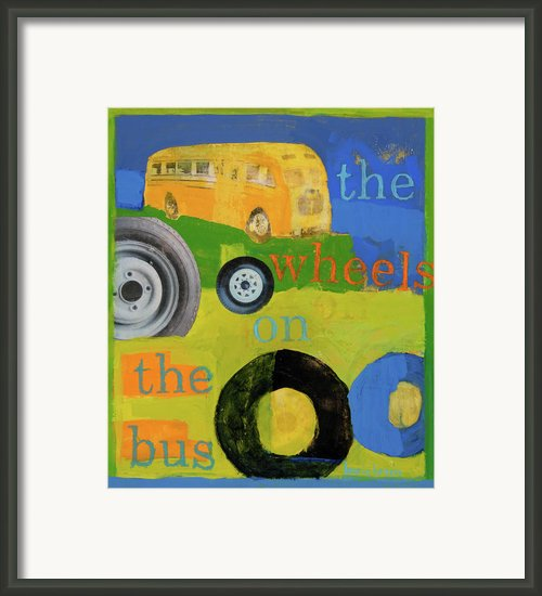 The Wheels On The Bus Framed Print By Laurie Breen