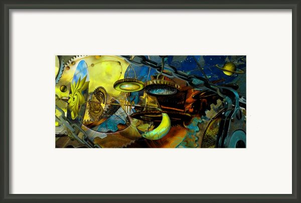 The Wheelwork Of Antikythera  Framed Print By Anne Weirich