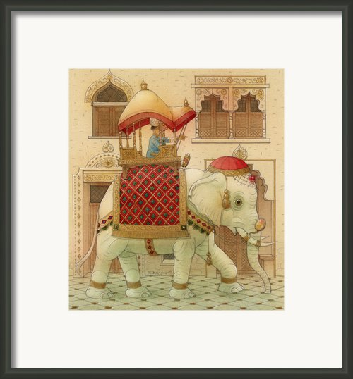 The White Elephant 01 Framed Print By Kestutis Kasparavicius