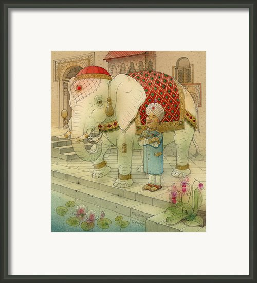 The White Elephant 05 Framed Print By Kestutis Kasparavicius