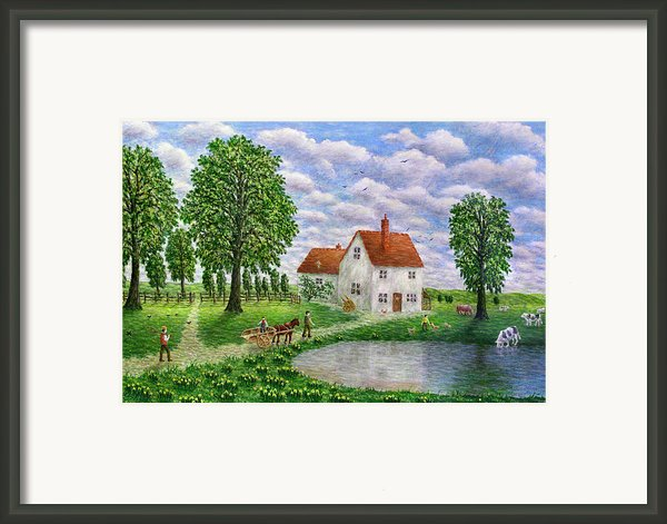 The White Farm Framed Print By Ronald Haber