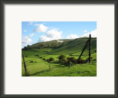 The White Horse Westbury England Framed Print By Kurt Van Wagner