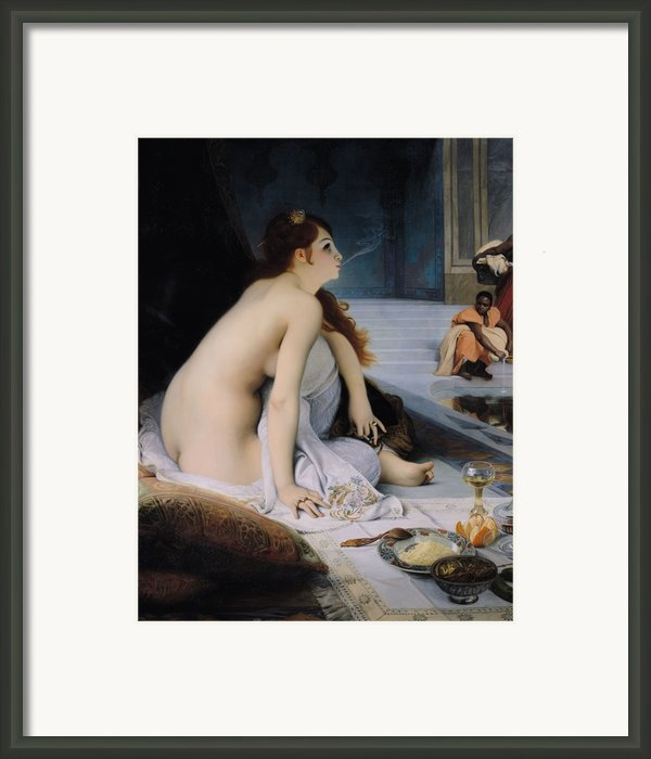 The White Slave Framed Print By Jean Jules Antoine Lecomte Du Nouy