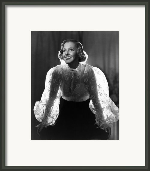 The Whole Towns Talking, Jean Arthur Framed Print By Everett