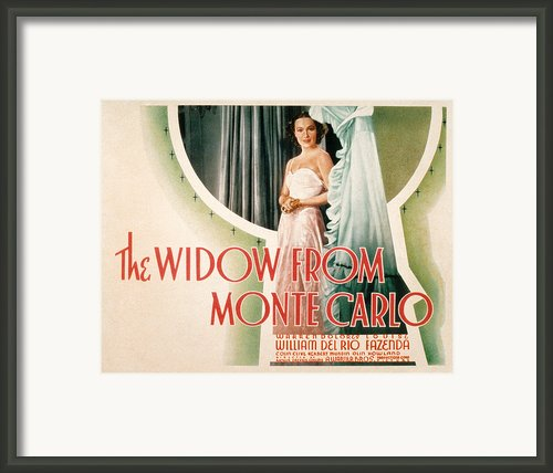 The Widow From Monte Carlo, Dolores Del Framed Print By Everett