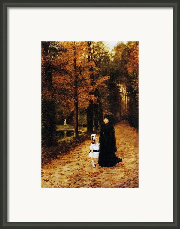 The Widow Framed Print By Horace De Callias