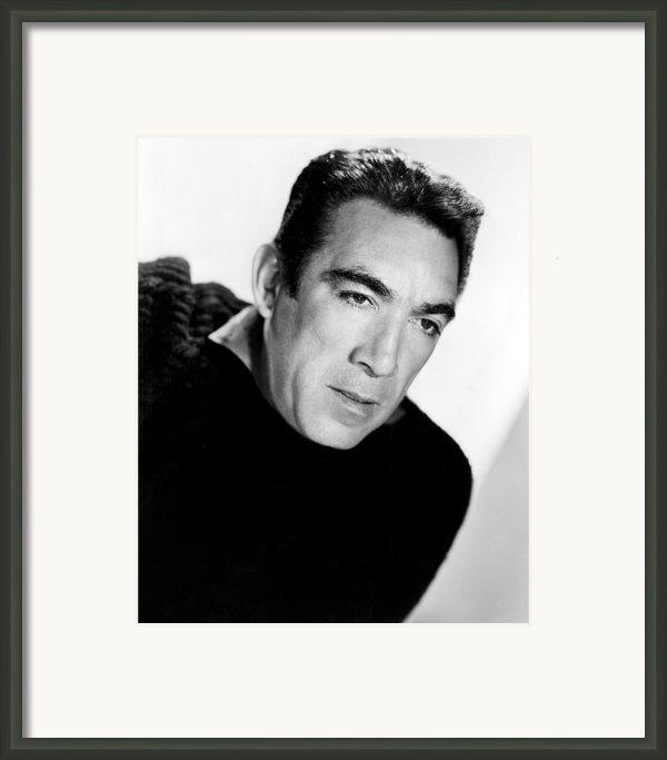 The Wild Party, Anthony Quinn, 1956 Framed Print By Everett