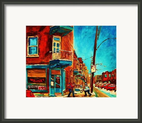 The Wilensky Doorway Framed Print By Carole Spandau