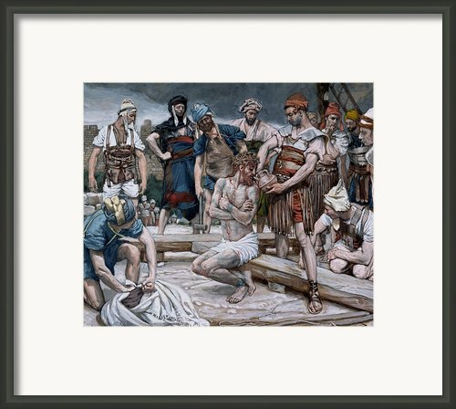 The Wine Mixed With Myrrh Framed Print By Tissot