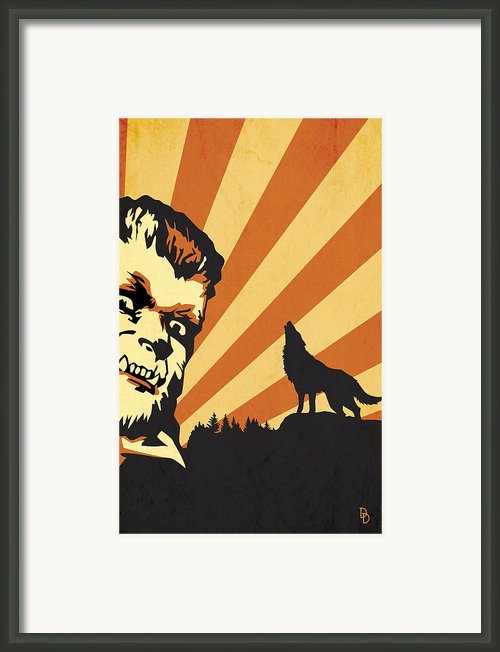 The Wolfman Framed Print By Dave Drake