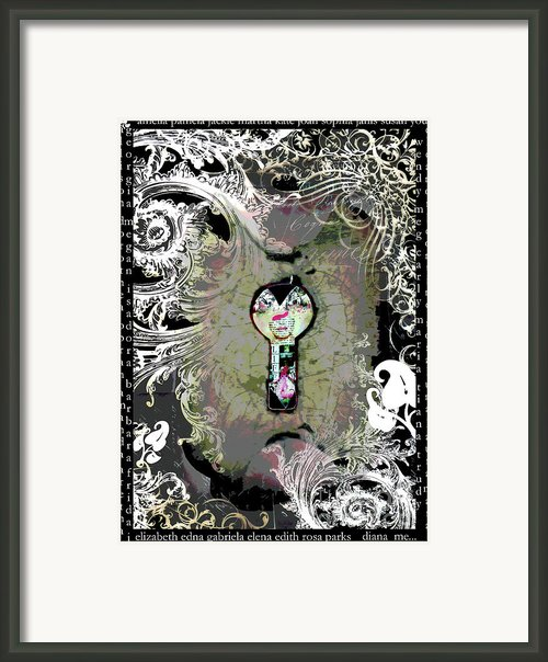 The Woman Through The Keyhole Framed Print By Anahi Decanio