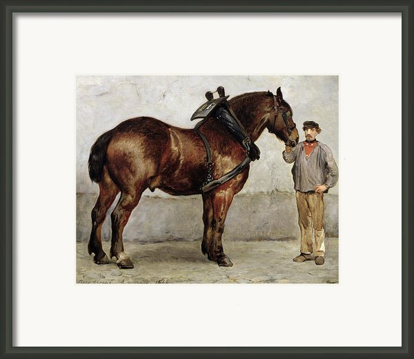 The Work Horse Framed Print By Otto Bache