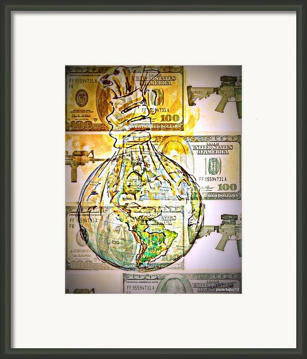 The World Is Money Framed Print By Paulo Zerbato