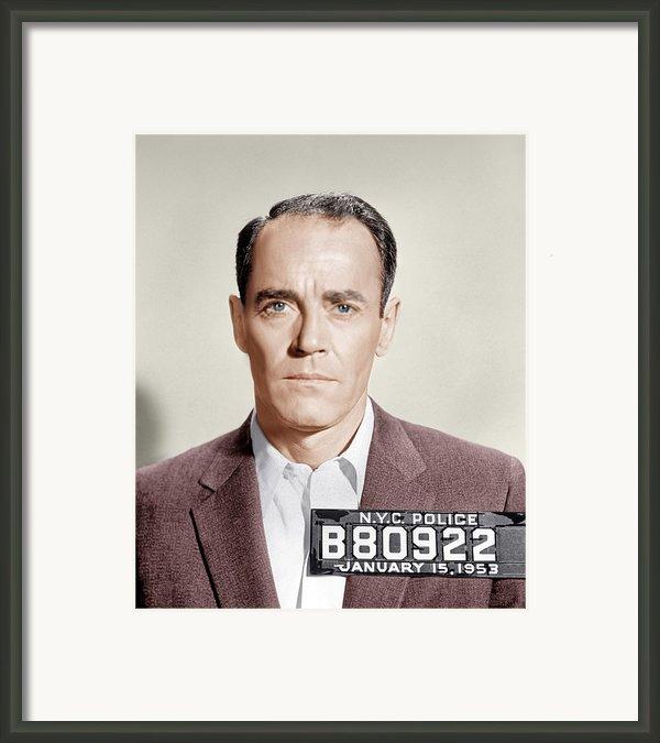 The Wrong Man, Henry Fonda, 1956 Framed Print By Everett