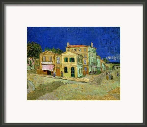 The Yellow House Framed Print By Vincent Van Gogh