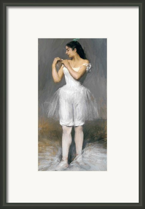 The Young Ballerina Framed Print By Stefan Kuhn