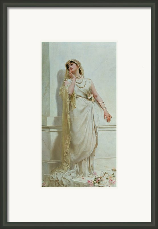 The Young Bride Framed Print By Alcide Theophile Robaudi