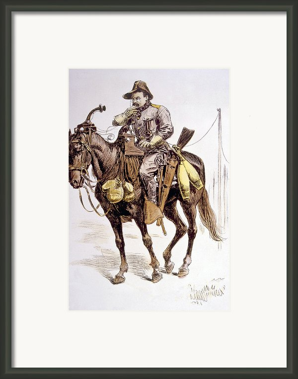 Theodore Roosevelt In Satirical Framed Print By Everett