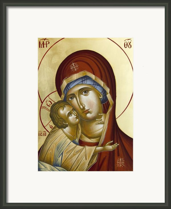 Theotokos Framed Print By Julia Bridget Hayes