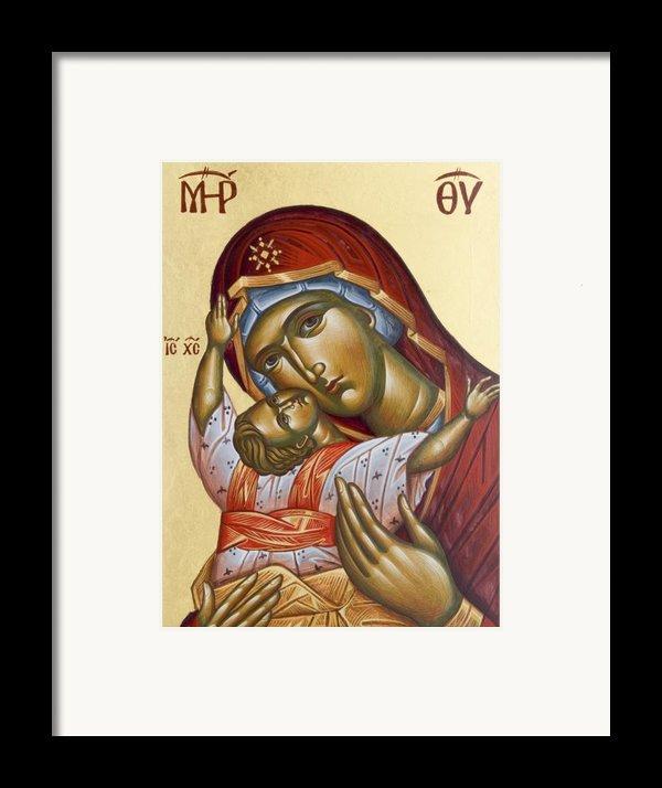 Theotokos Kardiotissa I Framed Print By Julia Bridget Hayes