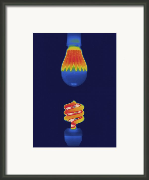 Thermal Image Comparing Energy Framed Print By Tyrone Turner
