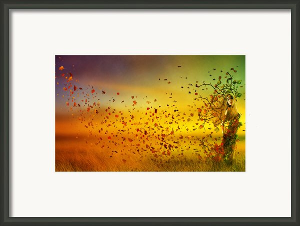 They Call Me Fall Framed Print By Karen H