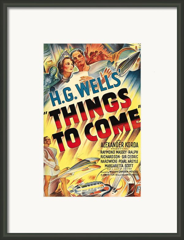 Things To Come Aka H.g. Wells Things To Framed Print By Everett