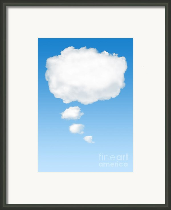 Thinking Cloud Framed Print By Carlos Caetano