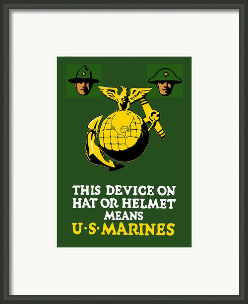 This Device Means Us Marines  Framed Print By War Is Hell Store