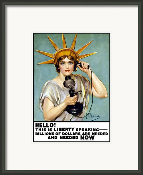 This Is Liberty Speaking Framed Print By War Is Hell Store