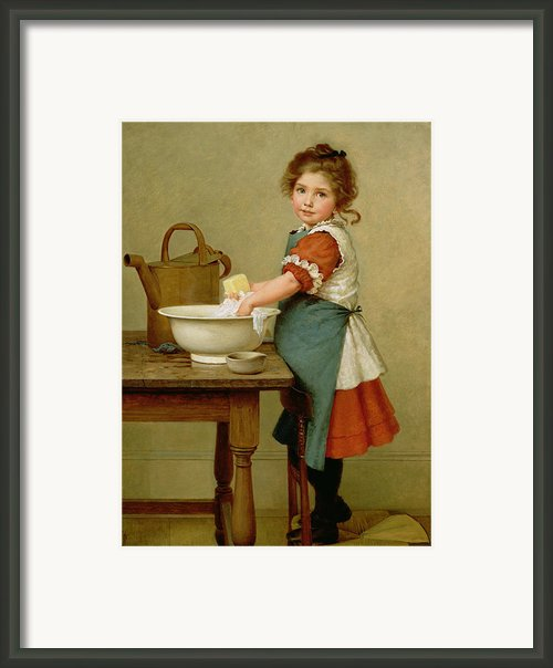This Is The Way We Wash Our Clothes  Framed Print By George Dunlop Leslie