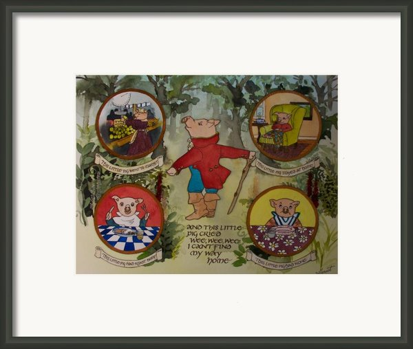 This Little Piggy Framed Print By Victoria Heryet