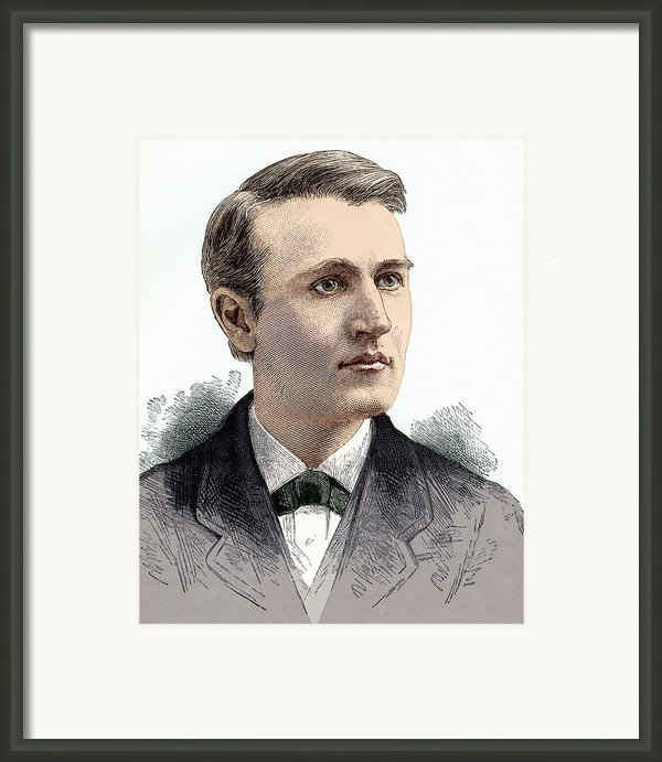 Thomas Edison, American Inventor Framed Print By Sheila Terry